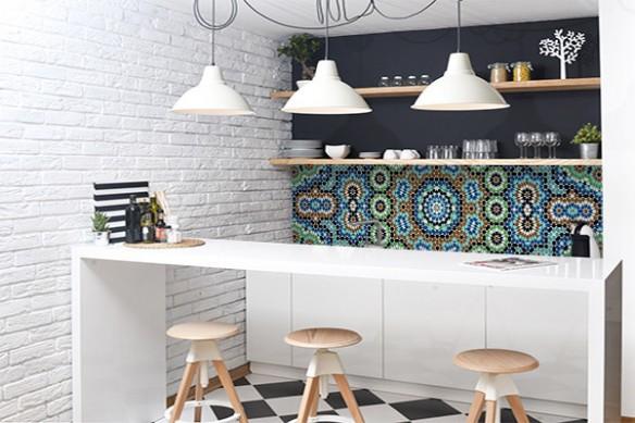 Crédence cuisine autocollante Mozaic