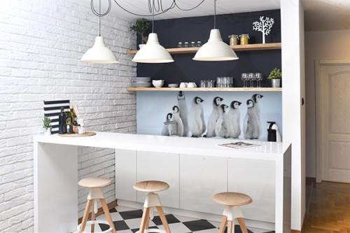Déco mur Cuisine Pingouins