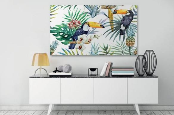 Toile imprimée animaux Toucans