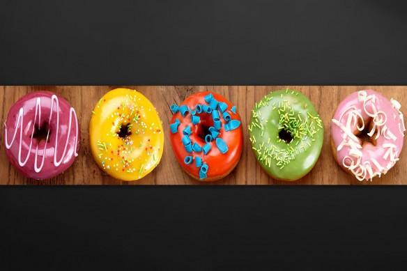 Décoration cuisine sticker Donuts