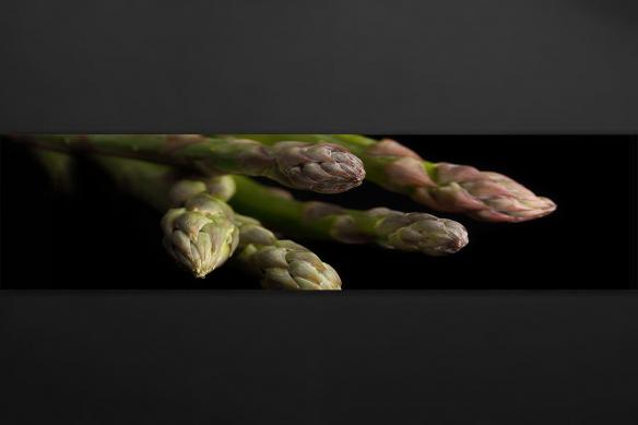 Crédence adhésive cuisine asperges fond noir