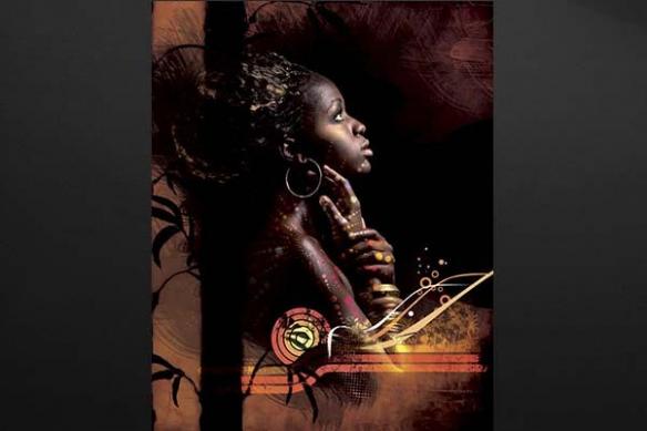 toile femme africaineTswana
