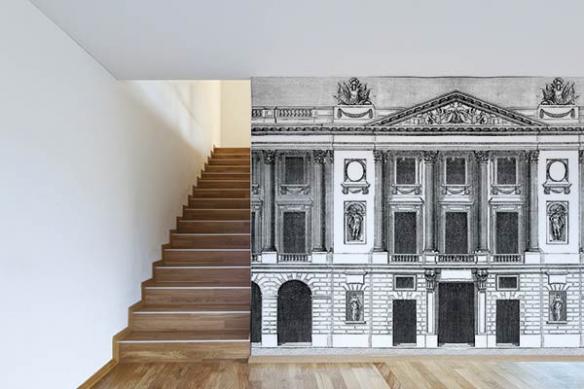 Papier peint trompe oeil façade