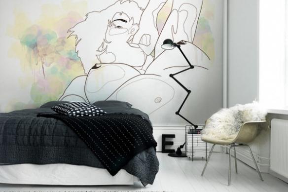 Papier peint intissé Woman Curves