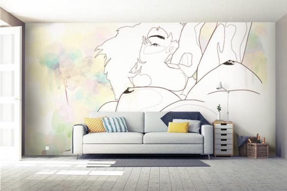 Déco murale salon Woman Curves