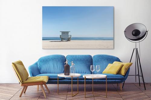 Châssis tableau paysage Littoral marin