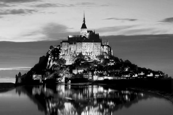 paysage Mt St Michel toile imprimée