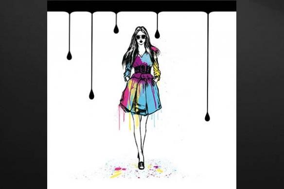 Tableau peinture Fashion Girl