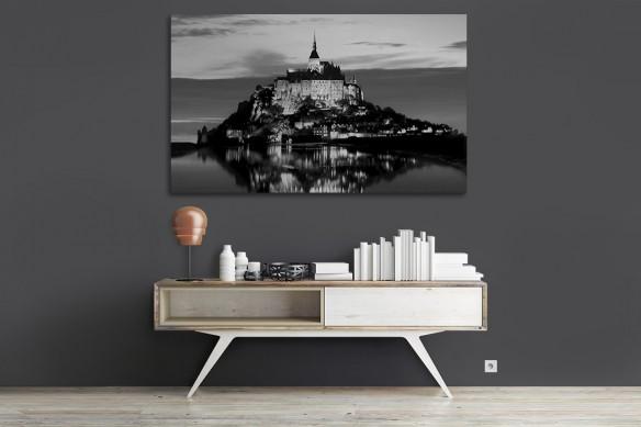 Tableau photo noir et blanc Mt St Michel
