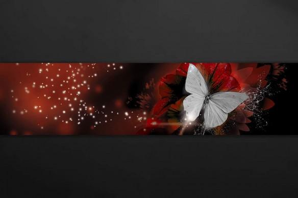 Crédence cuisine déco design Papillon de Lumière