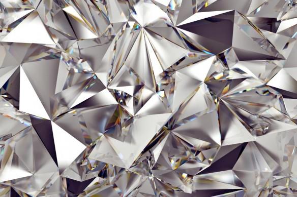 Déco murale salon Diamant brut