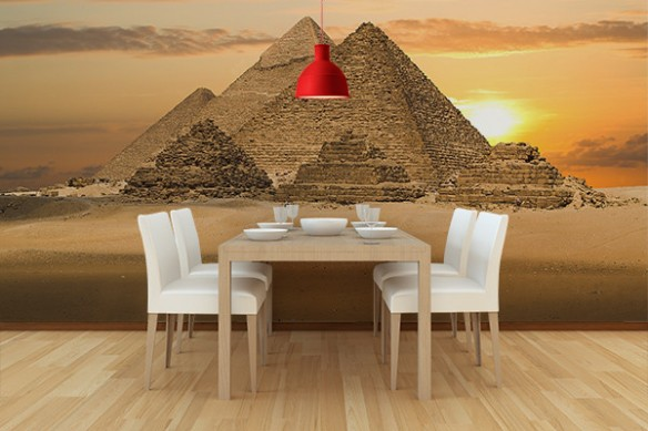 Papiers peints cuisine Pyramides kheops
