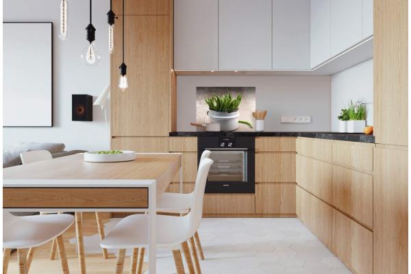 d coration cuisine fond de hotte d co haricots verts. Black Bedroom Furniture Sets. Home Design Ideas