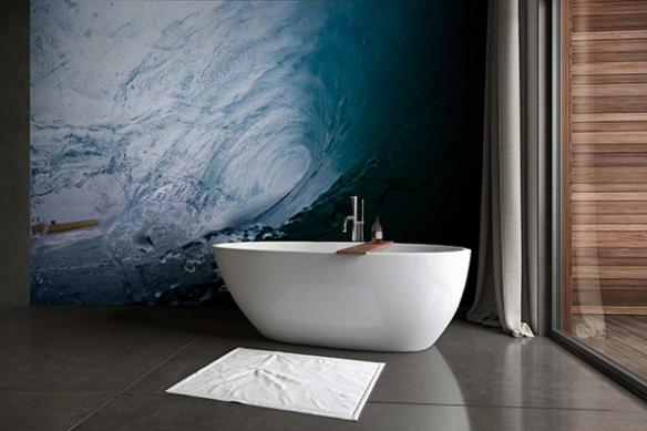 Papier peint salle de bain Rouleau