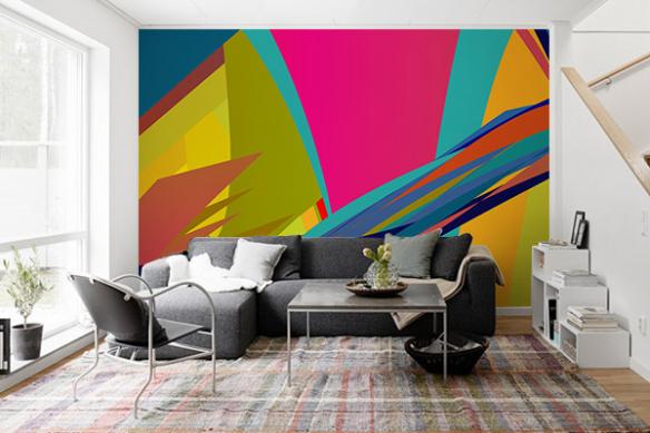 Papier peint moderne salon Zephir