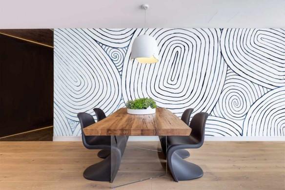 Wallpaper motifs abstraits Stries rouleau