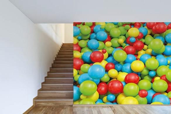 Papier peint 3d premium Bac à boules