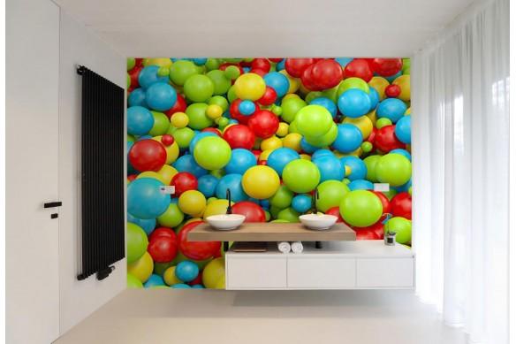 Papier peint vinyle salle de bain Bac à boules
