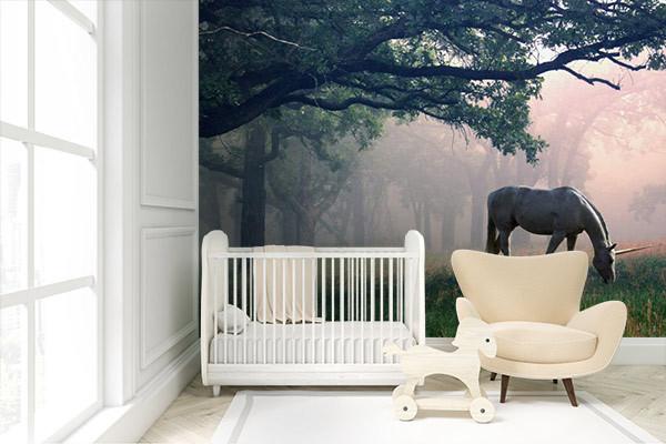 Papier peint chambre enfant premium licorne - Papier peint original chambre ...