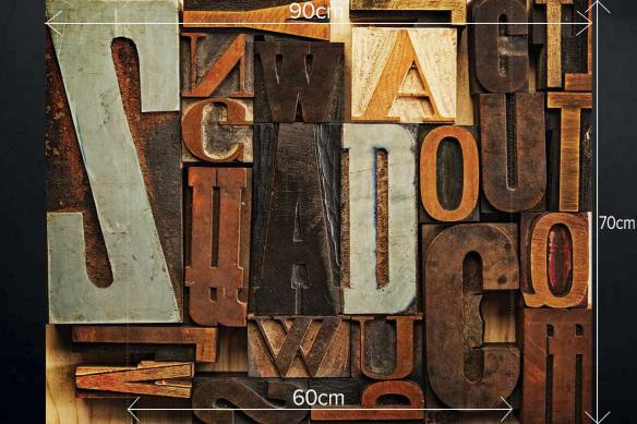 Déco murale cuisine Lettres en bois