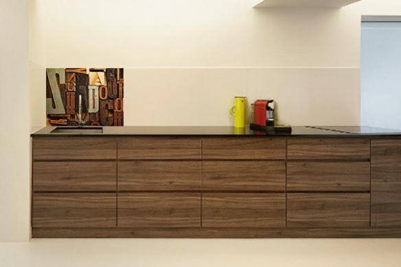 Fond de hotte cuisine à coller Lettres en bois