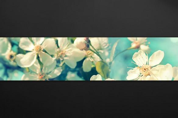 Déco mur de cuisine Fleurs ensoleillées