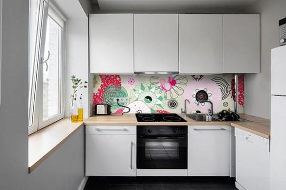 Crédence Cuisine décoration Green Beauty