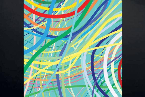 Tableau design Trame bleu ciel