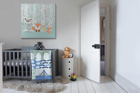 Tableau scandinave chambre enfant Charmante compagnie
