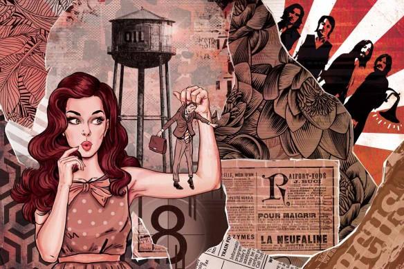 Décoration murale pop art Les brides du passé rouge