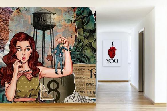 papier peint intissé pop art Les brides du passé