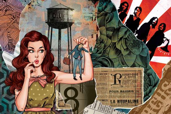 Décoration murale pop art Les brides du passé