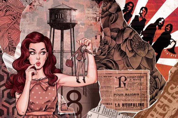 Déco mur pop art Les brides du passé rouge