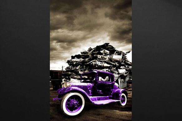 Tableau ford T violet