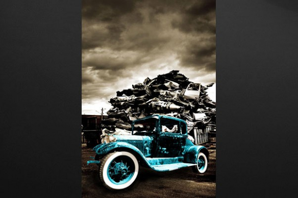 Tableau vintage voiture