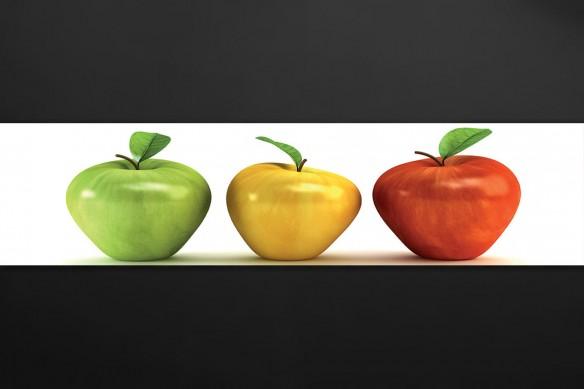 Crédence cuisine sur mesure Pommes