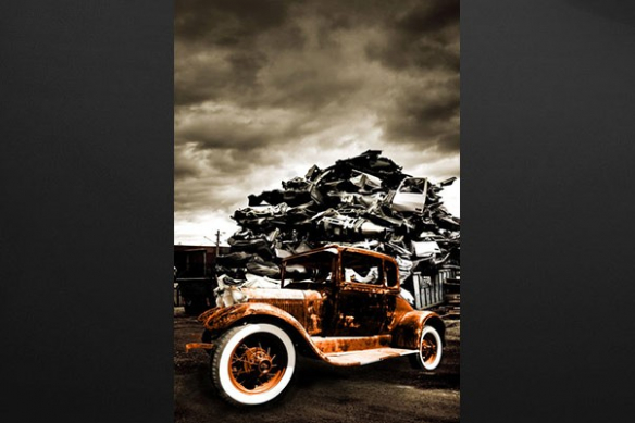 Tableau vieille voiture