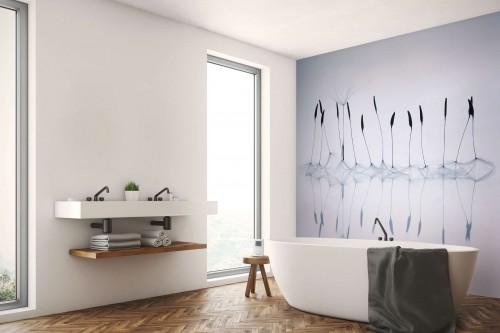Papier peint salle de bain Pistils