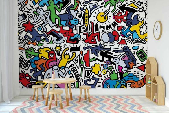Papier peint graphique et moderne Party Time