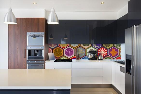 Crédence Design cuisine Symboles