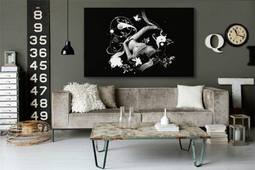 Tableau contemporain Sensual Ying Yang by Yann Wallaert