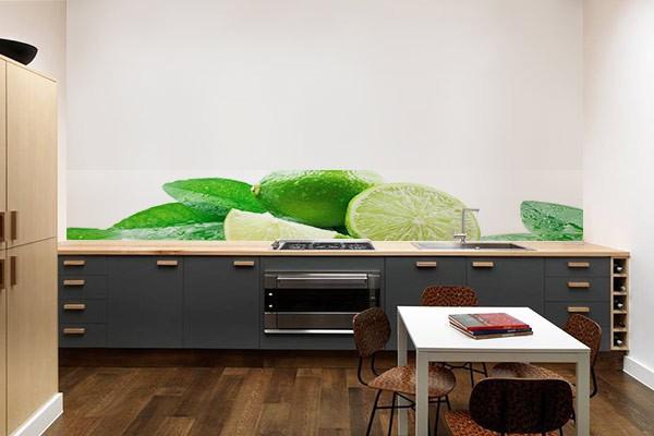 Crédence cuisine Citrons verts