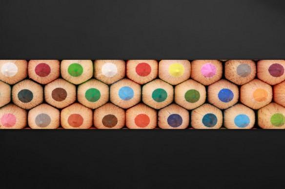 crédence déco personnalisée Crayons de couleurs