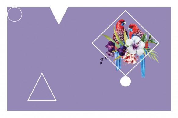 Tableau tendance Perroquet tropical violet