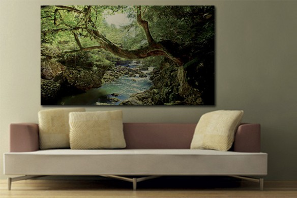 Tableau paysage Jungle rivière