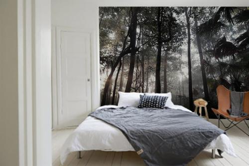 Papier peint moderne Jungle rayon de soleil