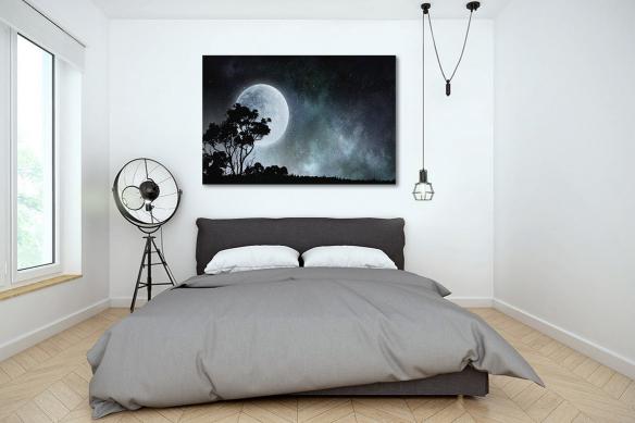 Tableau décoratif mural Pleine lune Serengeti