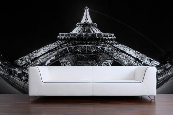 Papier peint Paris Tour Eiffel la nuit
