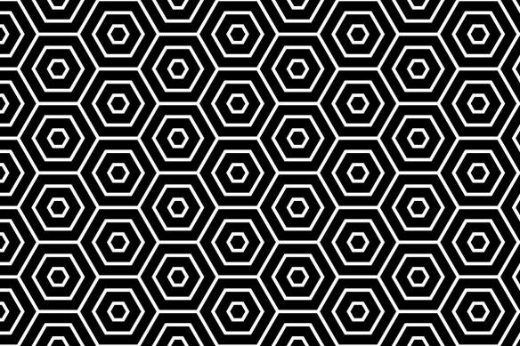 papier-peint-motif-geometrique-hexagone