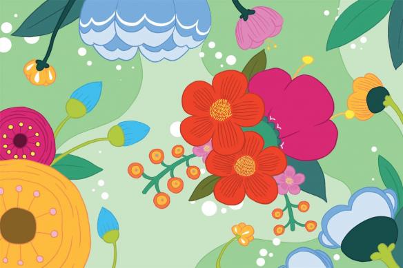 cadre mural -scandinave-fleur-bloom-rose